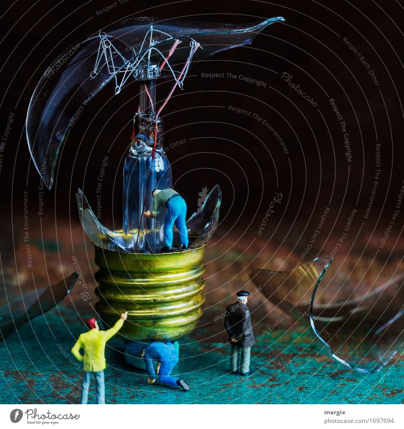 Miniwelten - Der Besserwisser gelb braun Energiewirtschaft Technik & Technologie Zukunft türkis Wissenschaften Fortschritt