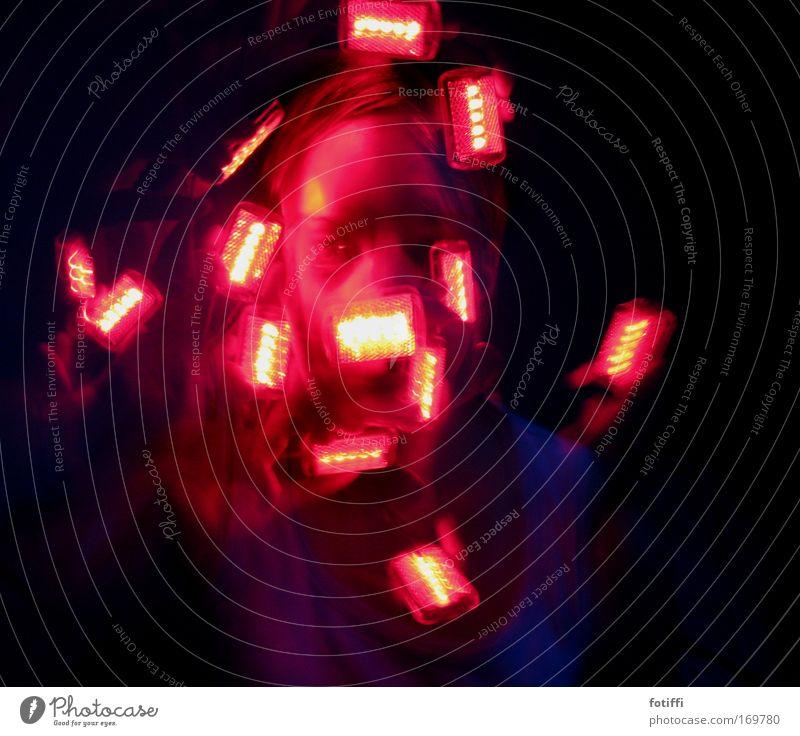mad eye Mensch weiß rot Freude schwarz Gesicht Auge Bewegung Haare & Frisuren Kopf träumen außergewöhnlich Geschwindigkeit leuchten Warmherzigkeit Kunststoff