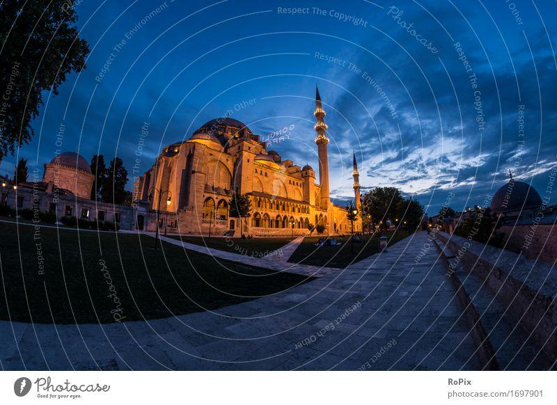 Sülemaniye Camii Ferien & Urlaub & Reisen Tourismus Ausflug Ferne Sightseeing Städtereise Kunst Architektur Umwelt Landschaft Luft Himmel Nachthimmel