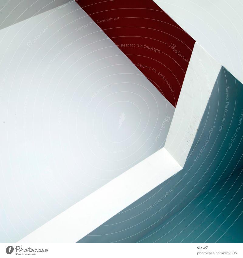 graphikdesign sieben schön weiß rot Haus Wand Stil Stein Mauer Raum Design Beton Fassade modern Ordnung ästhetisch einfach