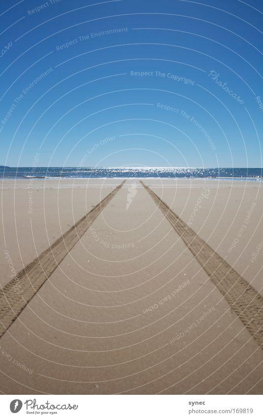 Gone overseas Natur Wasser Ferien & Urlaub & Reisen Sonne Meer Sommer Strand Ferne Umwelt Landschaft Freiheit Wege & Pfade Sand Luft Horizont Ausflug