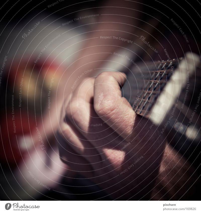 Fingerspiel Hand Erholung Spielen Musik Finger Fröhlichkeit retro Lebensfreude Gitarre Musiker Saite