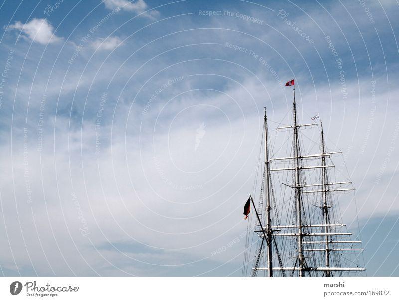 Eine Seefahrt, die ist lustig, eine Seefahrt, die ist schön.... Himmel Natur Wasser Ferien & Urlaub & Reisen Sommer Ferne Gefühle Luft Stimmung Wind Freizeit & Hobby Ausflug Klima Kultur Hafen Schönes Wetter