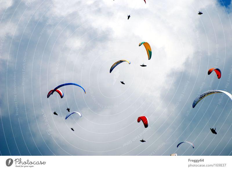 Rudel Mensch Sport Lebensfreude Stress Sport-Training Sportler Konkurrenz Sucht Gleitschirmfliegen Pilot Flugsportarten Fluggerät Gefühle