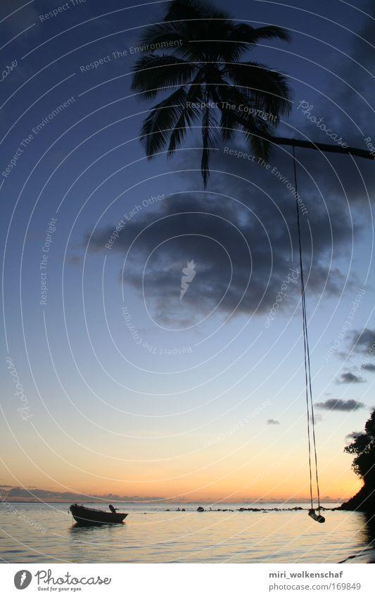 Fiji Sunset Meer Strand ruhig Erholung Freiheit Insel Reichtum Paradies stagnierend