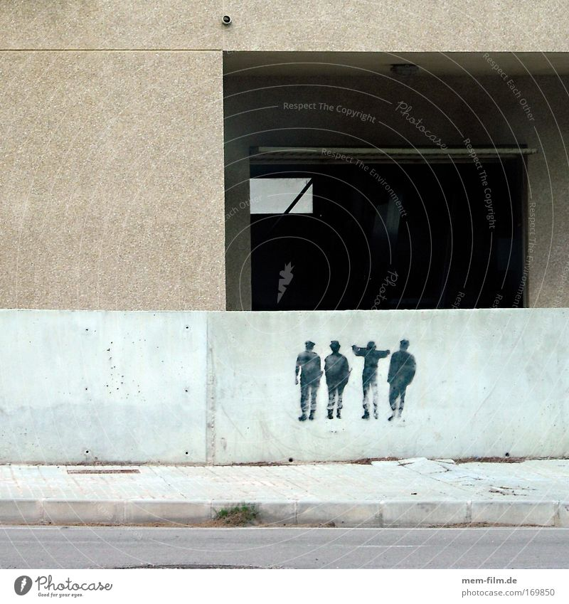 Freunde Beton Graffiti Tagger Hiphop Straßenkunst Kunst Figur Crew Possy Freundschaft Versammlung Demonstration Mallorca Spanien