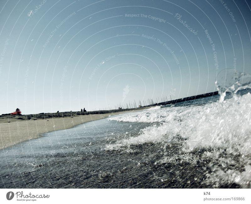 platja llevant Wasser Sonne Meer blau Sommer Strand Ferien & Urlaub & Reisen Sand Luft Küste Wassertropfen frisch Hafen heiß Schönes Wetter Brandung