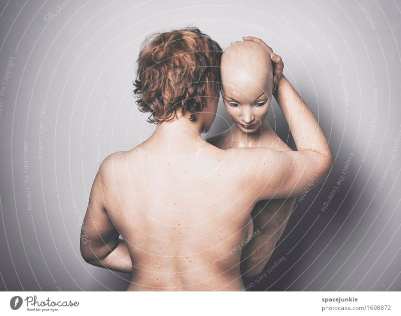 Love Mensch Jugendliche nackt schön Junger Mann 18-30 Jahre Erwachsene Wand Liebe feminin Mauer außergewöhnlich Zusammensein Freundschaft genießen Sex