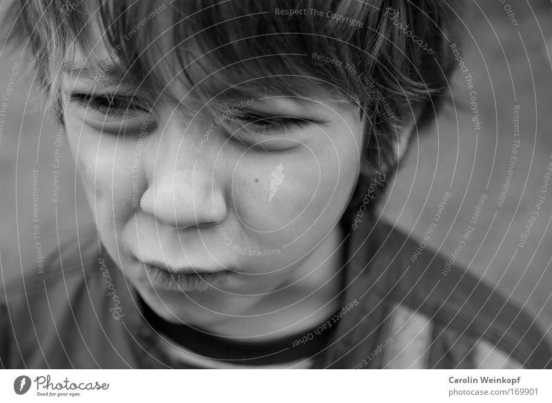 Bocklos. Mensch Kind Jugendliche Gesicht Leben Freiheit Gefühle Junge Kopf Haare & Frisuren blond Mund Haut Ausflug Nase maskulin