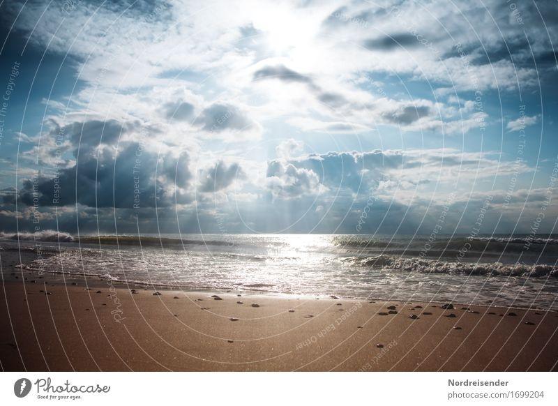 Meer ist mehr Sinnesorgane Ferien & Urlaub & Reisen Ferne Freiheit Strand Natur Landschaft Urelemente Sand Luft Wasser Himmel Wolken Sonne Sommer Herbst