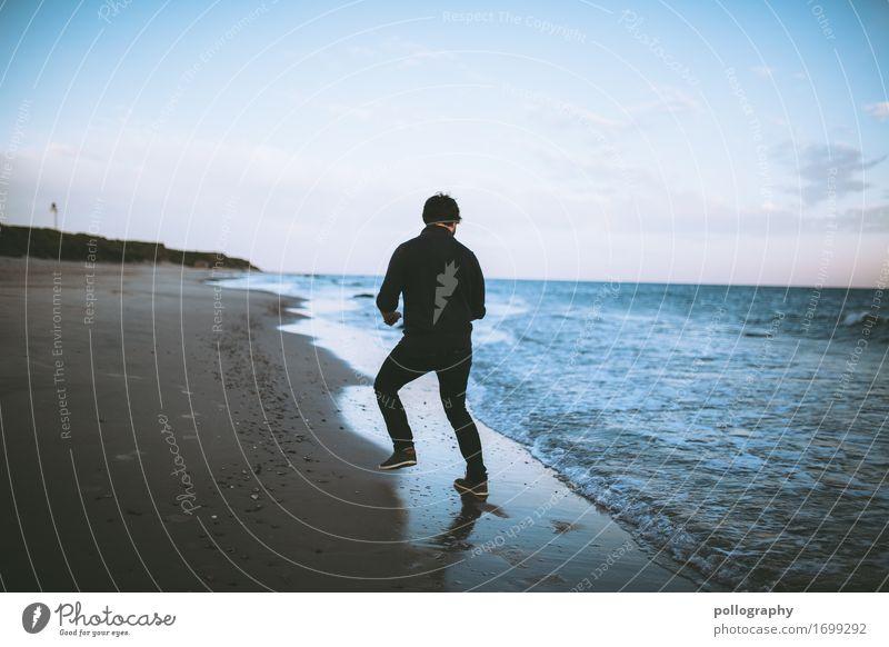 Beach Lifestyle Freizeit & Hobby Ferien & Urlaub & Reisen Tourismus Ausflug Abenteuer Ferne Freiheit maskulin Erwachsene Körper 1 Mensch Natur Landschaft Sand