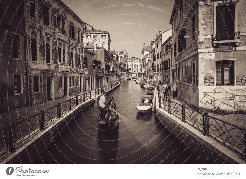 Afternoon in Venice Venedig Italien Europa Stadt Altstadt fahren dunkel Gefühle Stimmung Heimweh Fernweh Abenteuer Idylle Sinnesorgane Tradition Gondel (Boot)