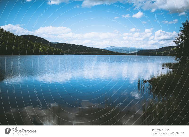 reflection Wellness Leben harmonisch Erholung ruhig Ferien & Urlaub & Reisen Ausflug Abenteuer Ferne Freiheit Sightseeing Natur Landschaft Wasser Himmel Wolken