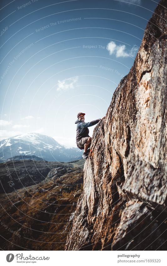 Climbing Lifestyle Freizeit & Hobby Ferien & Urlaub & Reisen Tourismus Ausflug Abenteuer Ferne Freiheit Berge u. Gebirge Klettern Bergsteigen maskulin