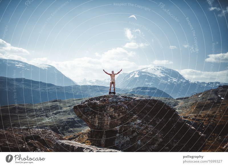 be free Mensch Ferien & Urlaub & Reisen Jugendliche Mann Junger Mann Freude Ferne 18-30 Jahre Berge u. Gebirge Erwachsene Leben Sport Lifestyle Freiheit