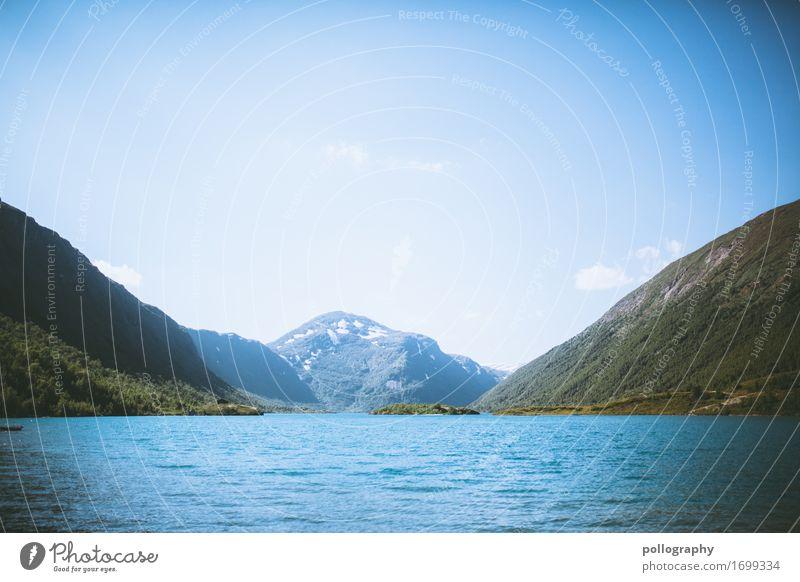 landscape Leben ruhig Freizeit & Hobby Ferien & Urlaub & Reisen Ausflug Abenteuer Ferne Freiheit Winter Berge u. Gebirge Natur Landschaft Wasser Himmel