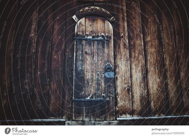 door II Einsamkeit Holz Wand Gefühle Kunst Mauer braun Fassade grau Angst Metall Tür authentisch geschlossen historisch bedrohlich