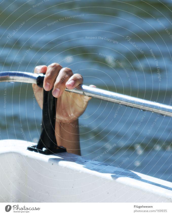 Och menno, ich will auch eine Yacht! Sonne Sommer Ferien & Urlaub & Reisen Erfolg tauchen fantastisch Schwimmen & Baden fangen Segeln Seeufer hängen exotisch Hilferuf Segelboot selbstbewußt Jacht
