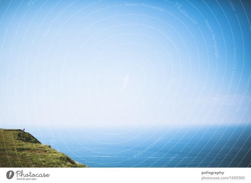 sky Buch Bibliothek Umwelt Natur Landschaft Urelemente Erde Luft Wasser Himmel Wolkenloser Himmel Klima Wetter Schönes Wetter Hügel Felsen Meer Gefühle Stimmung