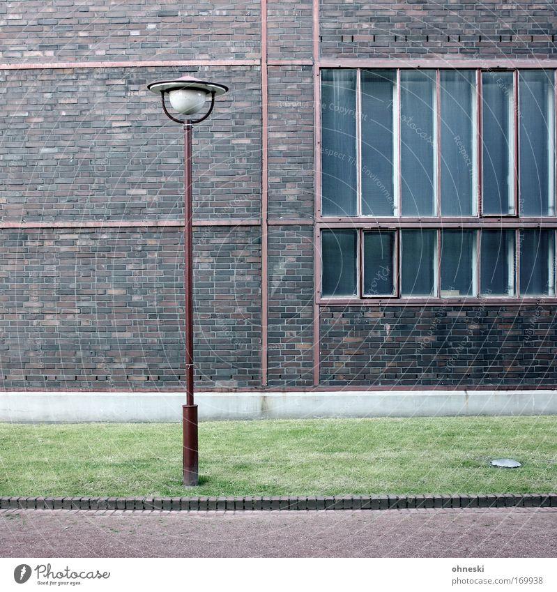 Industriekultur alt Lampe Wand Fenster Mauer Fassade Fabrik authentisch Kultur Backstein Laterne Industrieanlage Ruhrgebiet