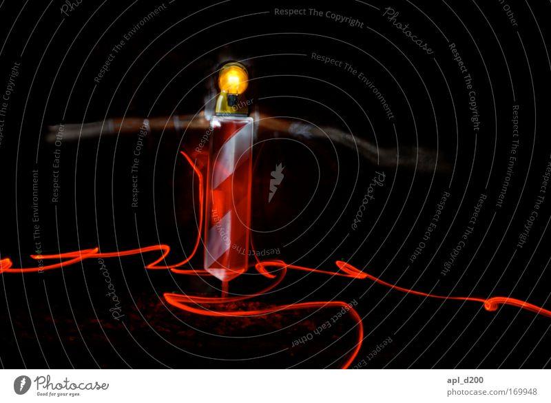 Baustellen Monster weiß rot gelb Arbeit & Erwerbstätigkeit Energiewirtschaft ästhetisch Technik & Technologie stehen bedrohlich Warmherzigkeit leuchten