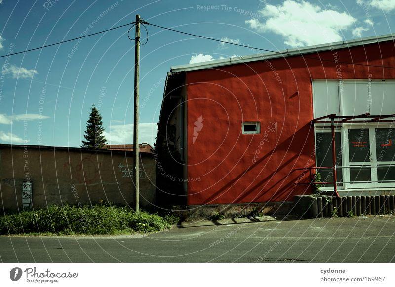 Tote Hose Himmel Baum Sommer Haus Einsamkeit Straße Farbe Leben Wand Gefühle Gras träumen Traurigkeit Mauer Landschaft Architektur