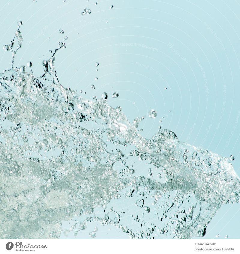 Platsch! Wasser schön Meer blau Sommer Leben kalt Bewegung See Wellen nass Wassertropfen frisch Trinkwasser Getränk