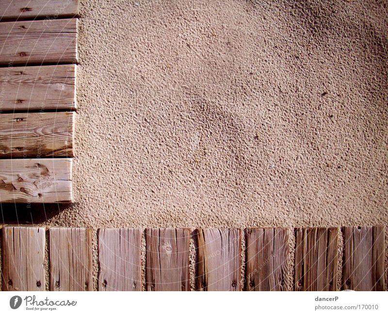 Bretterwand Natur Sonne Meer Sommer Strand Ferien & Urlaub & Reisen ruhig Wand Freiheit Traurigkeit Mauer Wärme Sand Küste Kunst
