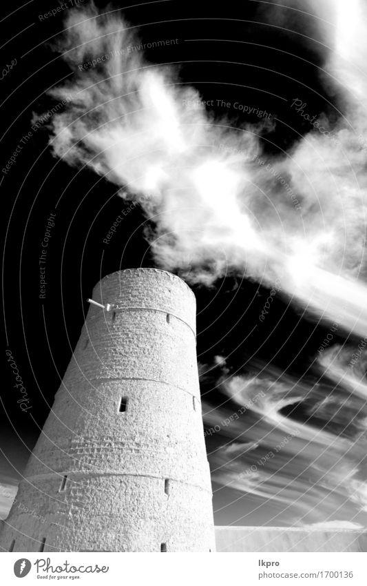 Muskat die alte defensive Wolke Ferien & Urlaub & Reisen Tourismus Himmel Wolken Klima Kleinstadt Burg oder Schloss Gebäude Architektur Denkmal Stein heiß grau