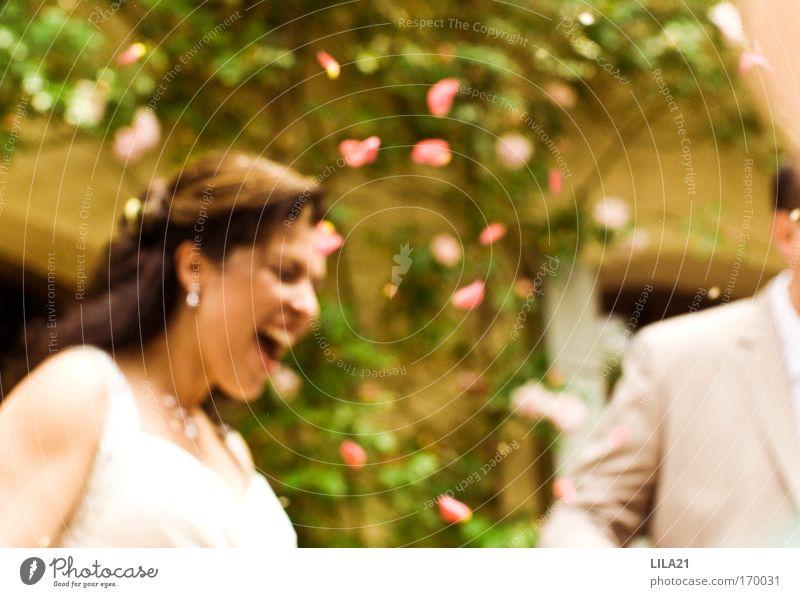 Der schönste Tag Mensch Frau Mann Freude Erwachsene feminin Gefühle lachen Glück Paar Feste & Feiern Zusammensein glänzend natürlich maskulin