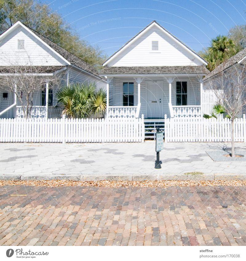 Alterswohnsitz alt Haus Straße Glück Zufriedenheit hell USA Sauberkeit Florida Lebensfreude Dorf Freundlichkeit Hütte historisch Originalität Sehenswürdigkeit
