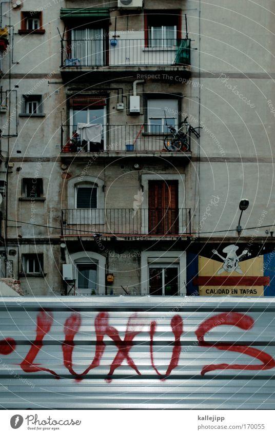 wir feiern hier ´ne Party und du bist nicht dabei schön Haus Wand Fenster Graffiti Stil Mauer elegant Fassade Armut Wachstum Lifestyle Club Reichtum