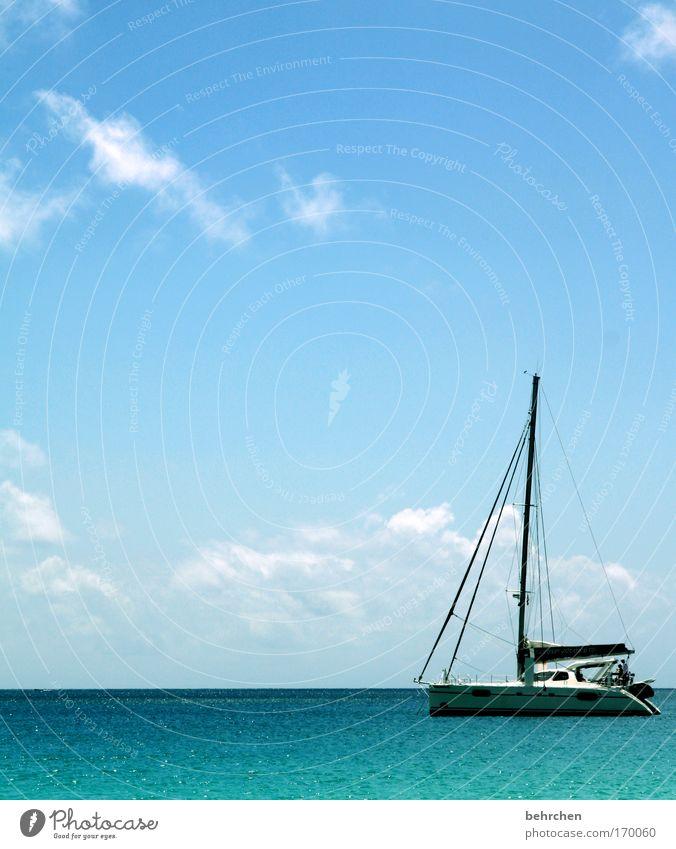 ich bin dann mal weg Himmel Sonne Meer Strand Ferien & Urlaub & Reisen ruhig Wolken Ferne Erholung Freiheit Zufriedenheit Wellen Küste Ausflug Abenteuer Insel