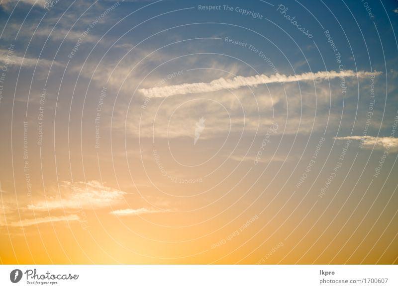 orange Farbe schön Sommer Sonne Umwelt Natur Landschaft Himmel Wolken Wetter Unwetter Wärme hell blau gelb rot Frieden Religion & Glaube Hintergrund