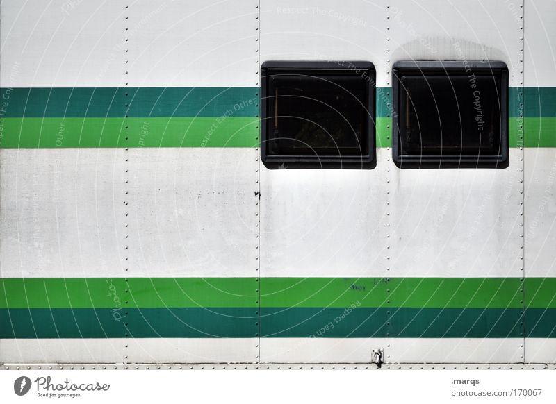 Tag Team weiß grün Ferien & Urlaub & Reisen Fenster Stil Metall Linie dreckig Fassade Design außergewöhnlich Streifen einzigartig retro Grafik u. Illustration Kreativität