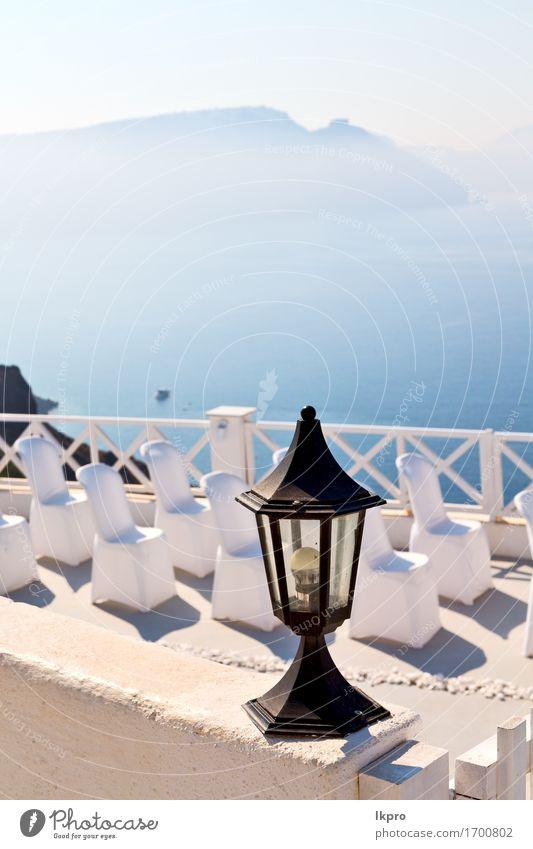 alter Restaurantstuhl Griechenlands und Sommer Himmel Ferien & Urlaub & Reisen blau weiß Sonne Meer Blume Landschaft Erholung Haus Küste Lifestyle Tourismus