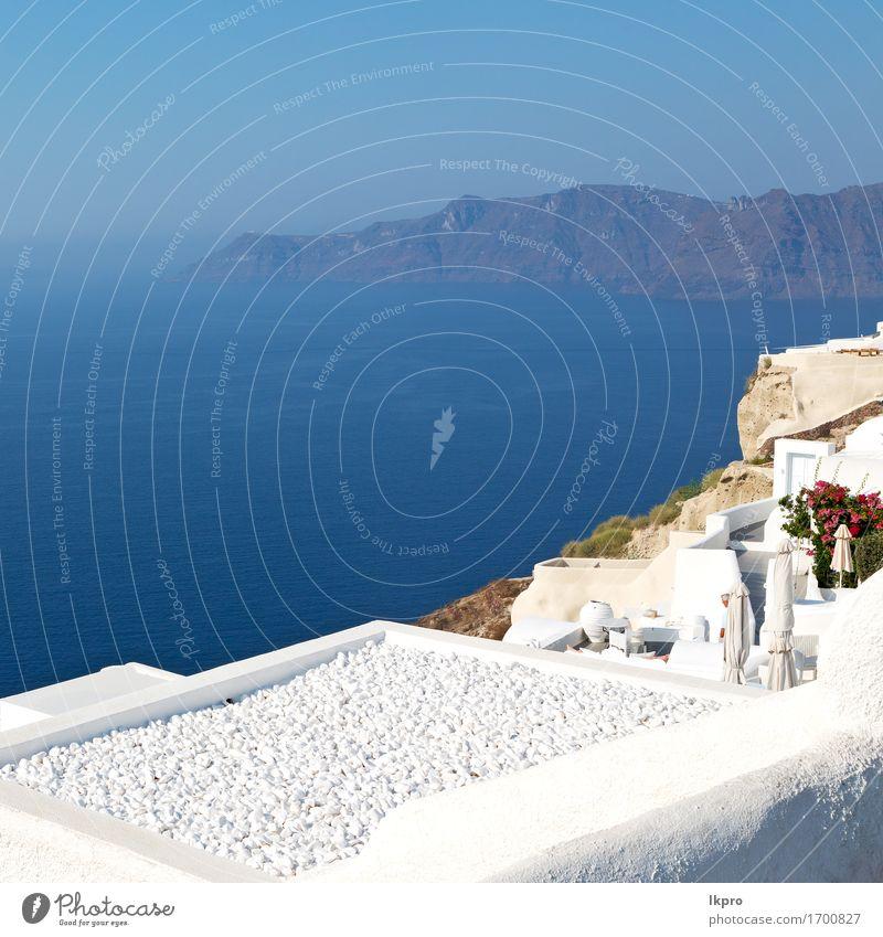 Altstadt weiß und der Himmel Natur Ferien & Urlaub & Reisen Stadt blau Farbe Sommer schön Meer Blume Landschaft Haus Berge u. Gebirge Straße Architektur