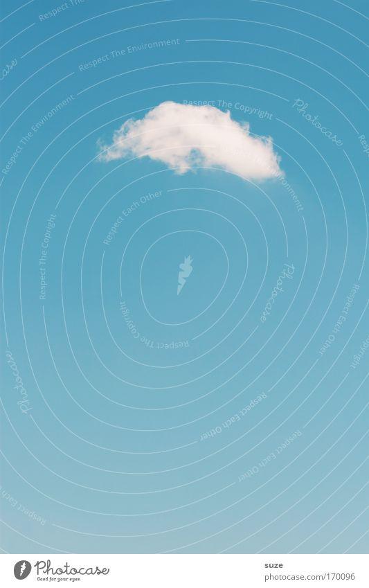 Wolke 7 Himmel Natur blau weiß Sommer Wolken Umwelt Glück Luft träumen Wetter Klima Urelemente Schönes Wetter einfach Leichtigkeit