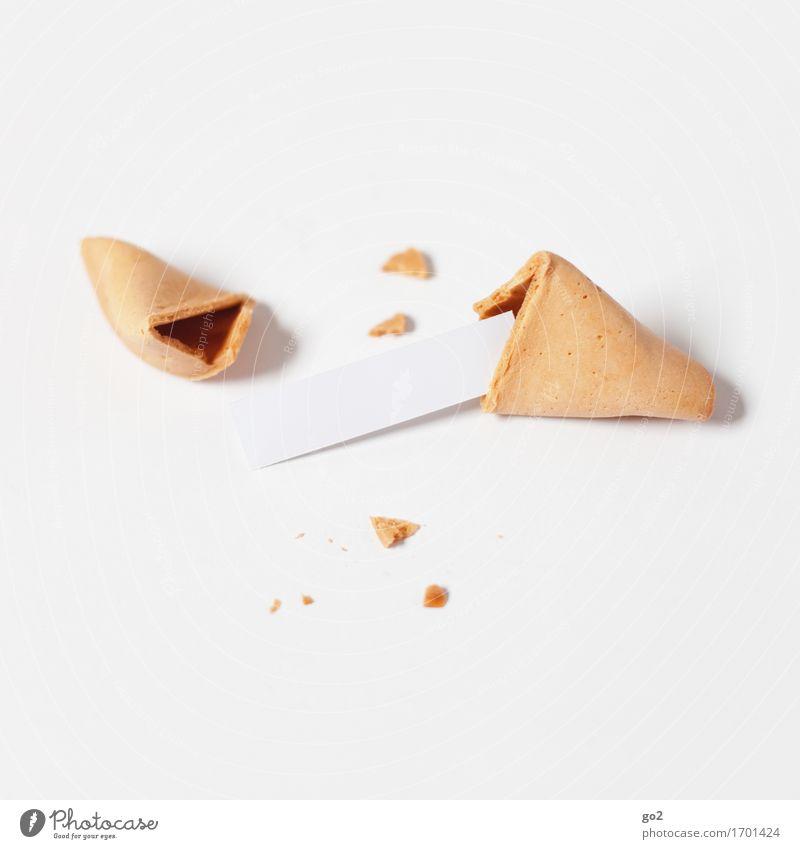 1 Wunsch frei Dessert Süßwaren Glückskeks Ernährung Asiatische Küche Zettel Essen lecker Neugier süß Überraschung Beginn Business Erfolg Erwartung Freude