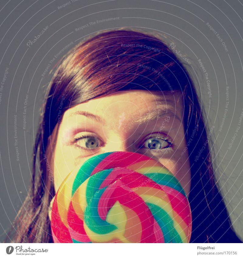100 | It´s Partytime! :) Mensch feminin Junge Frau Jugendliche Erwachsene Kopf Haare & Frisuren Gesicht 18-30 Jahre groß Lollipop Auge gestreift lecker