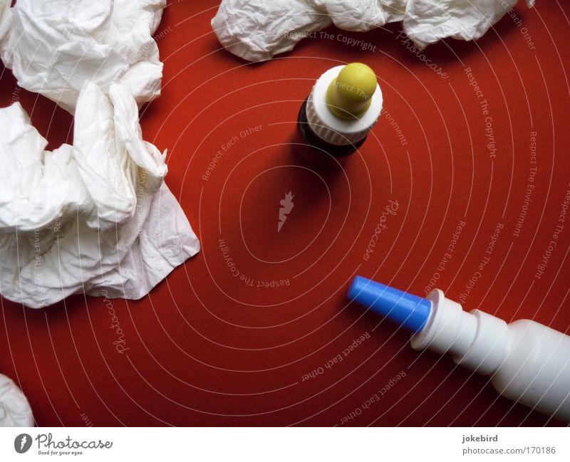 *schnief rot Gesundheitswesen Vergänglichkeit Erkältung Kunststoff Falte Stress atmen Medikament Allergie gebraucht Bakterien Taschentuch niesen Infektion