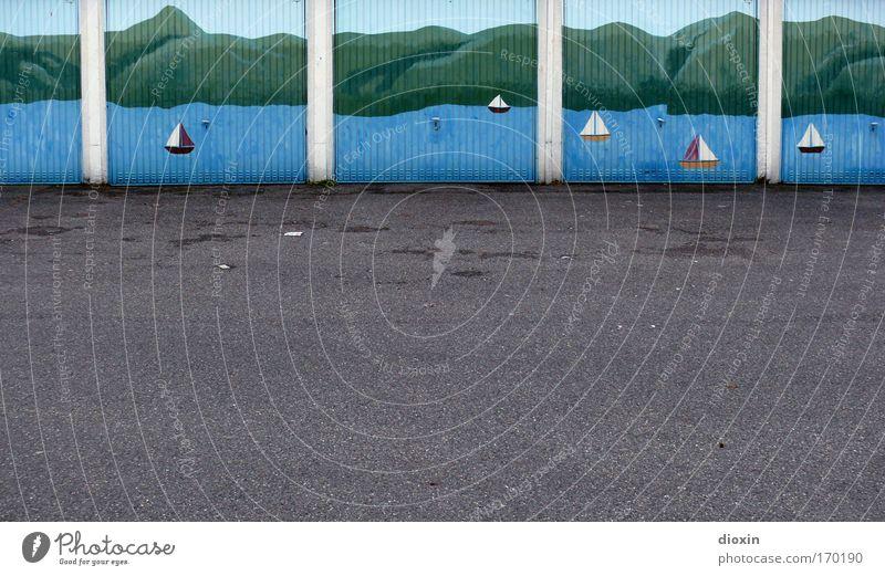 Seeblick Stadt Ferien & Urlaub & Reisen Meer Sommer Strand Straße Berge u. Gebirge Wege & Pfade Wasserfahrzeug Beton Ausflug Tourismus trist Asphalt Idylle Tor