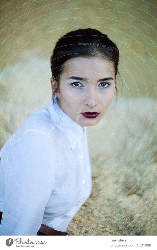 Ich schaue in die Augen kaufen elegant Stil Gesicht Kosmetik Parfum Schminke Lippenstift Wimperntusche Rouge Junge Frau Jugendliche Erwachsene 1 Mensch Mode