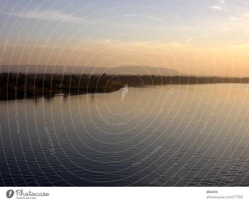niel sun set Farbe Fluss
