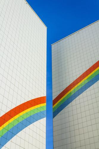 Plattenbau Stadt Haus Architektur Wand Berlin Gebäude Mauer Deutschland oben Fassade modern Hochhaus retro hoch neu Wohnhaus