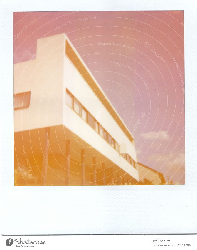 Neues Bauen Haus Architektur Wohnung Design modern ästhetisch Häusliches Leben Bauwerk Polaroid Stuttgart Bauhaus Traumhaus
