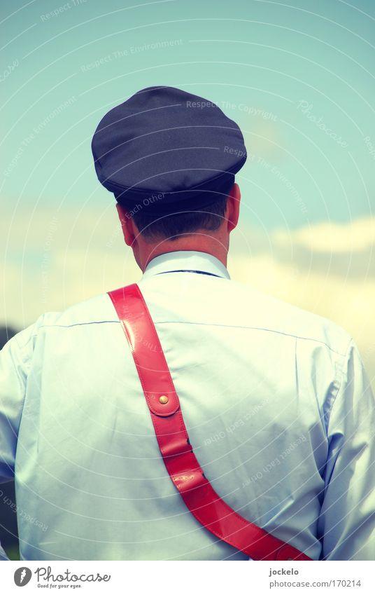 De Zuch kütt Personenverkehr Öffentlicher Personennahverkehr Güterverkehr & Logistik Bahnfahren Oldtimer Schienenverkehr Eisenbahn Personenzug Bahnhof blau