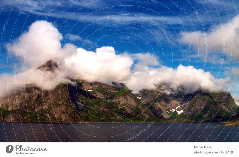 wolkenkratzer (für erdbeertorte) Himmel Wasser blau schön Ferien & Urlaub & Reisen Wolken Ferne Schnee Freiheit Berge u. Gebirge Tourismus Sehnsucht fantastisch