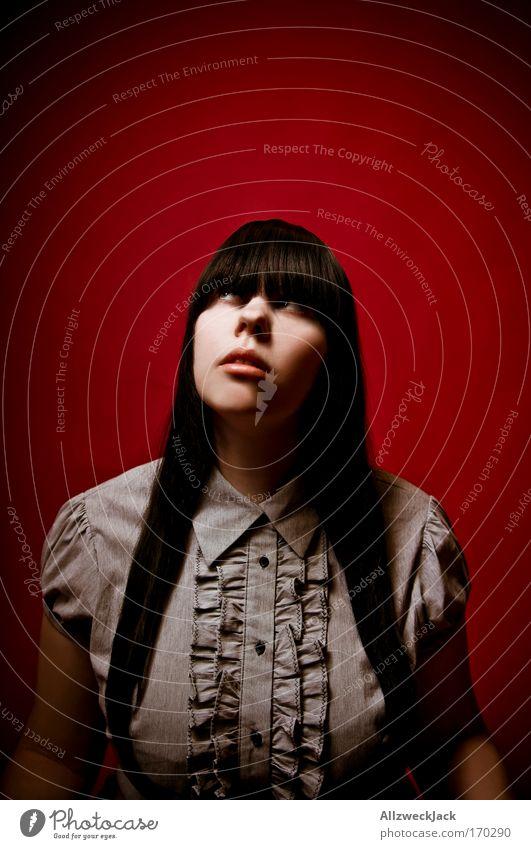 Le Rouge et le Noir [deux] Mensch Jugendliche schön rot Gesicht feminin Haare & Frisuren Kopf Religion & Glaube Erwachsene ästhetisch Wunsch Neugier Frau