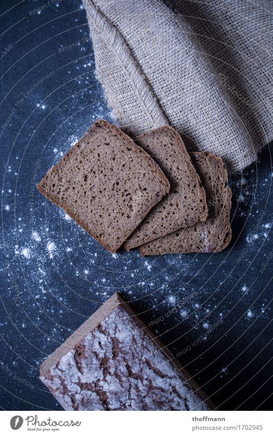 Bäckerbrot Belegtes Brot Bütterken Vesper Mehl Holz Holzbrett Untergrund dunkel Studioaufnahme Ernährung Gesundheit Gesunde Ernährung Lebensmittel Speise